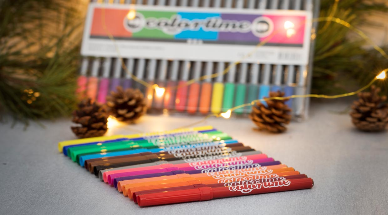 Colortime Tusch, spetst: 2 mm, mixade färger, 18 st.