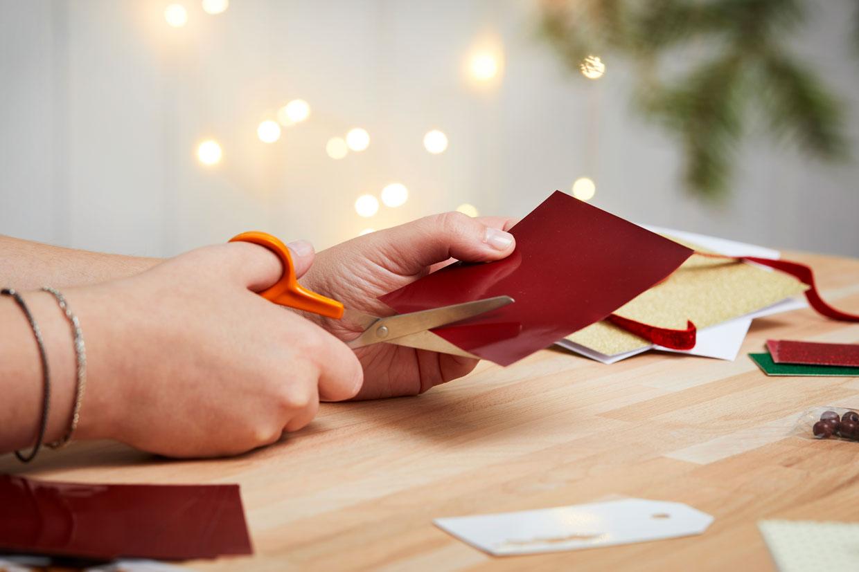 julekort til jul papirklip