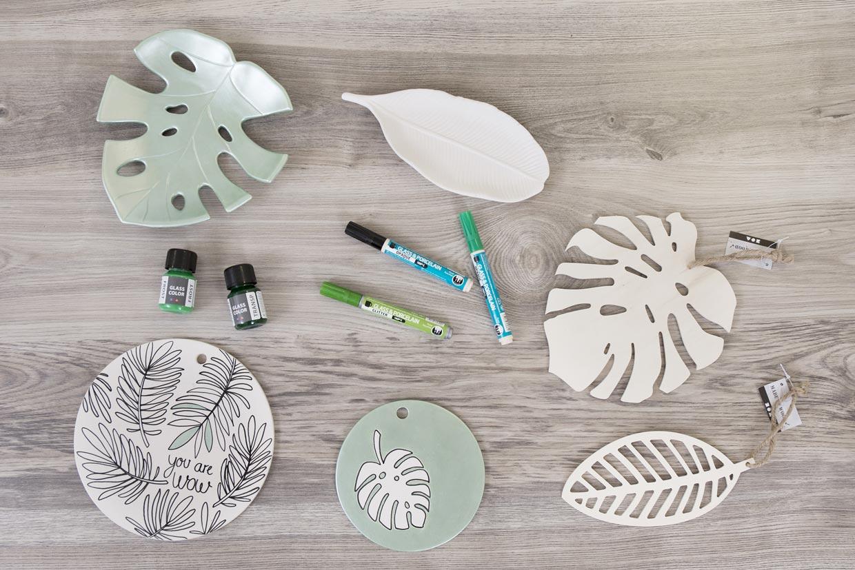 Kreativ inredning, Botanic Living: Använd bladmotivet på flera ställen när du inreder