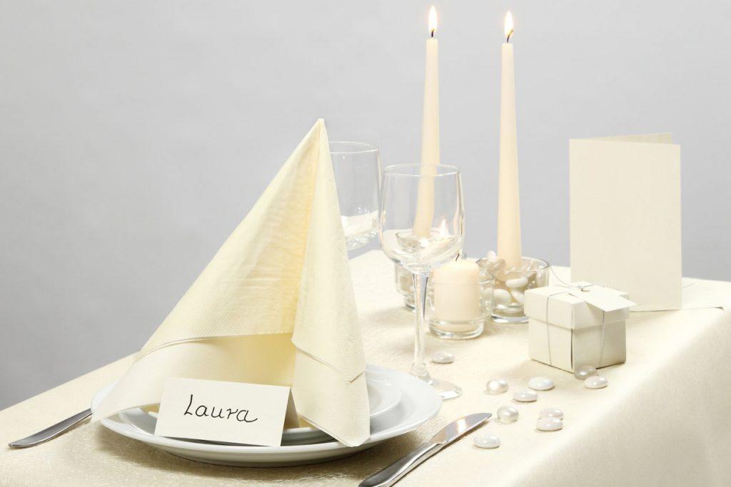 Bryllupspynt: Borddækning fra Happy Moments