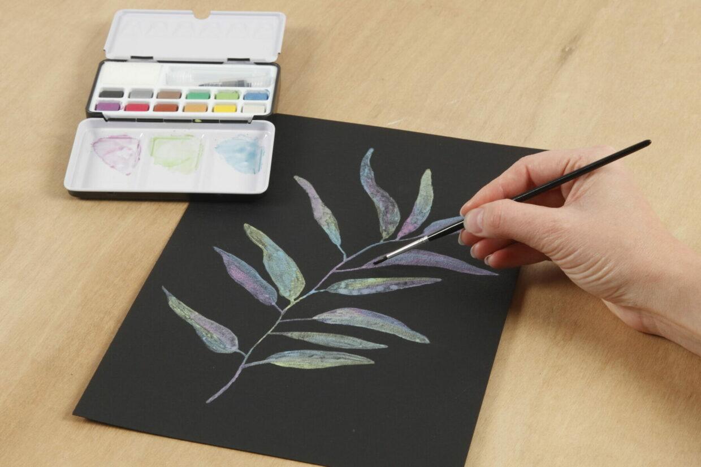 mal med akvarel på nye måder