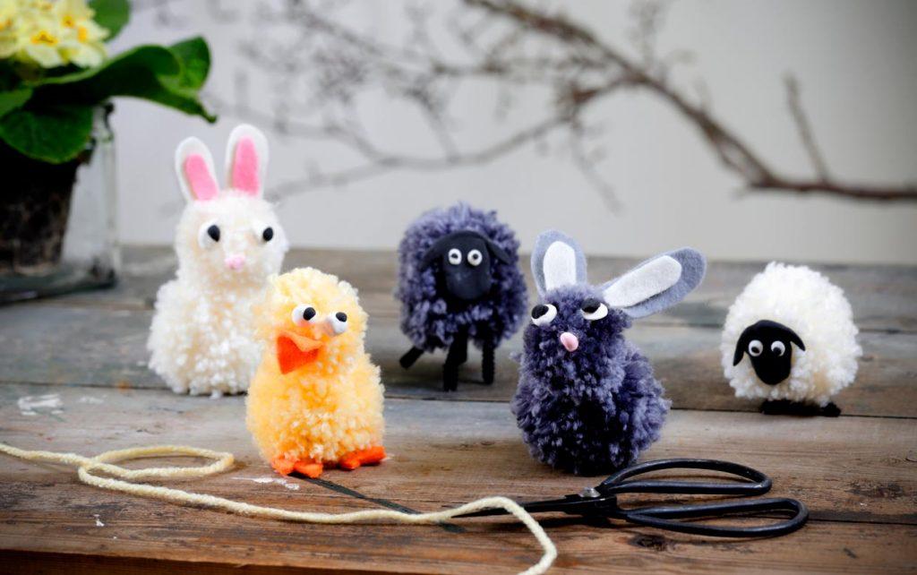 Påske: Lav pompon-dyr