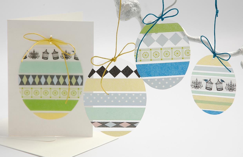 Påske og påskepynt: Æg i hårdfolie med masking tape