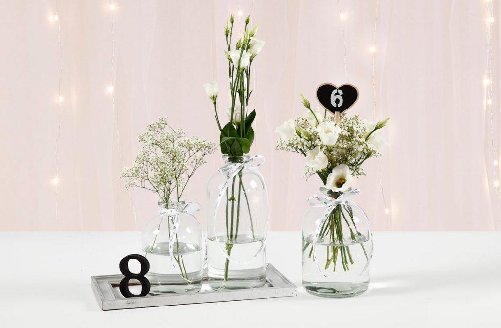 Bryllupspynt: Bordnummer af tal eller tavlehjerter