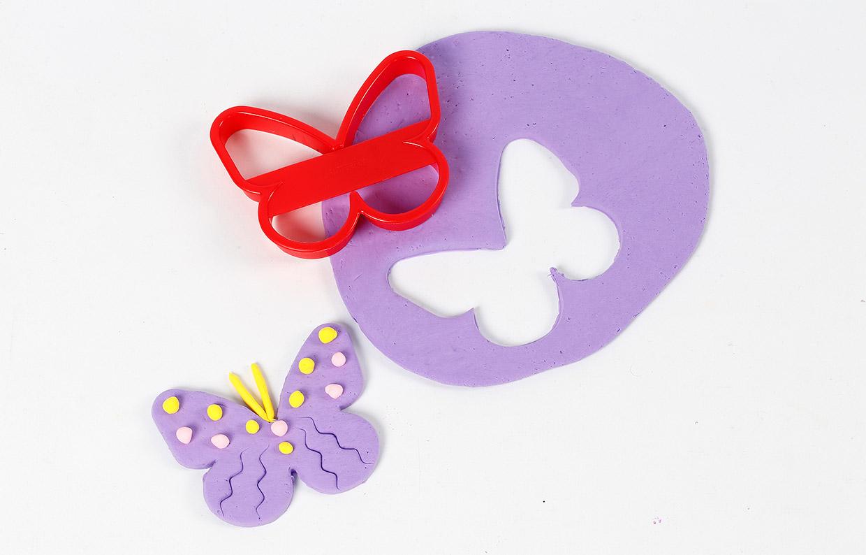 Silk Clay - Udstukket sommerfugl
