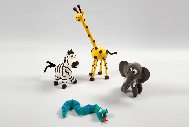 Silk Clay - Vilde dyr på skeletter