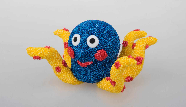 Foam Clay modelleret blæksprutte