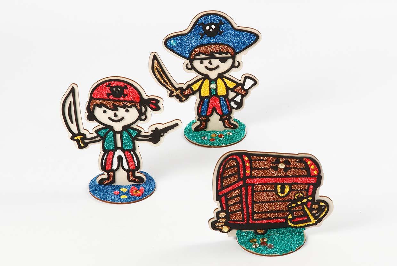 Foam Clay på pirater og skattekiste i tre