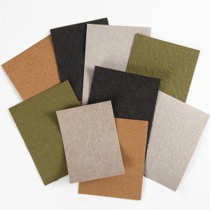 faux leather leerpapier embossen