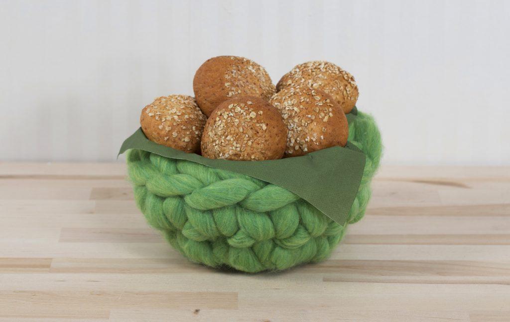 XL garn - kæmpe garn hækle idéer brødkurv