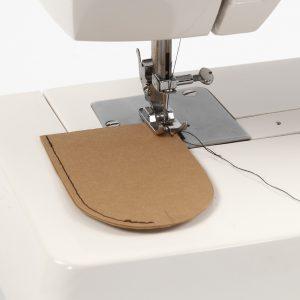 Læderpapir symaskine