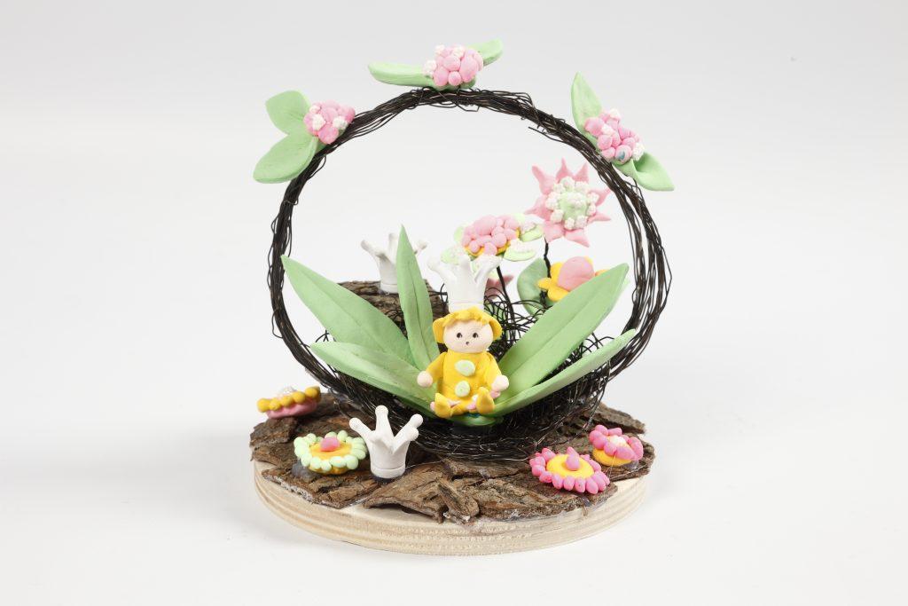 Miniature verden inspiration med fe og blomster