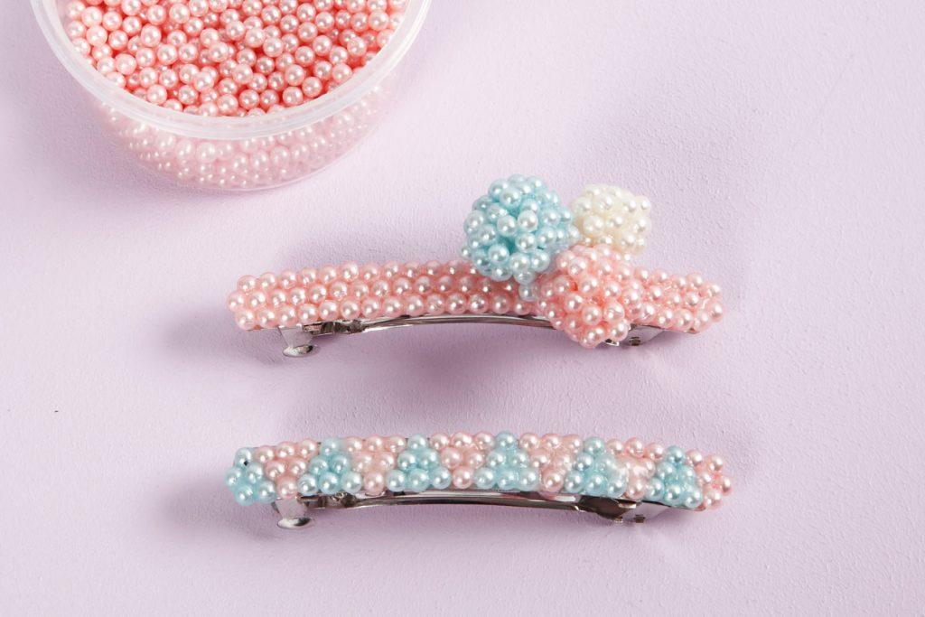 Kreative idéer med Pearl Clay modellering idé hårspænde lav selv smykker