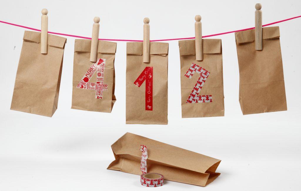 Pakkekalender til jul - kreativ innpakning av kalendergaver