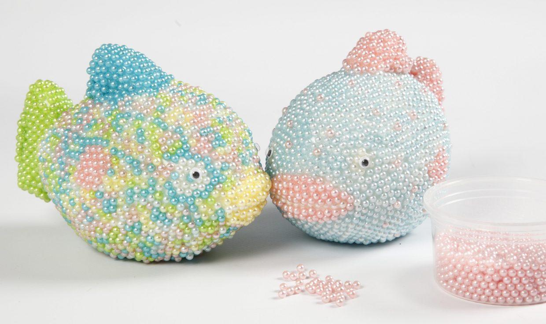 Kreativa idéer med Pearl Clay modellering idé fisk av frigolit