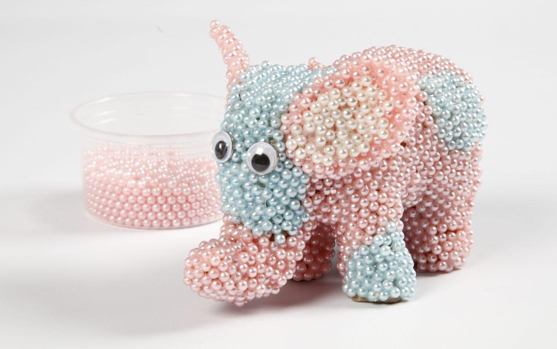 Kreativa idéer med Pearl Clay modellering elefant av papier-maché