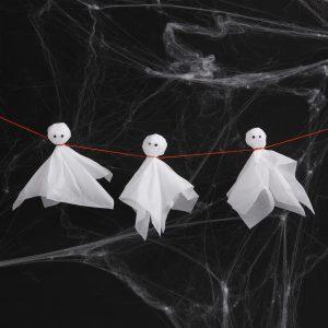 Kreativ halloween lav selv pynt med papirklip spøgelser