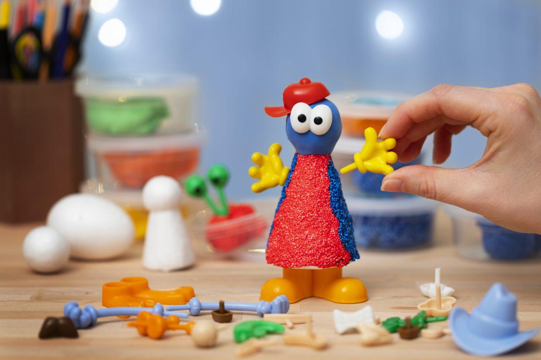 kreative idéer til børn, inspiration til modellering med tilbehør