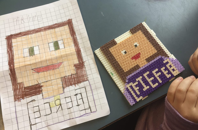 kreative idéer til børn, perler, pixel art