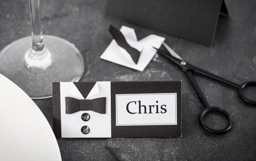 Konfirmation pynt bordkort