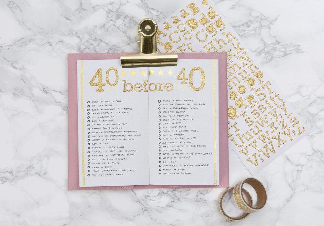 Lav selv en bullet journal og planner med bucket liste - find inspiration og idéer her
