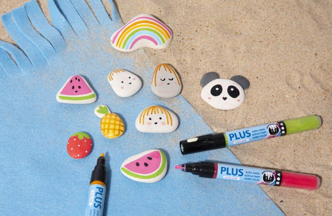 Sjov og kreativ ferie med børn - mal på sten