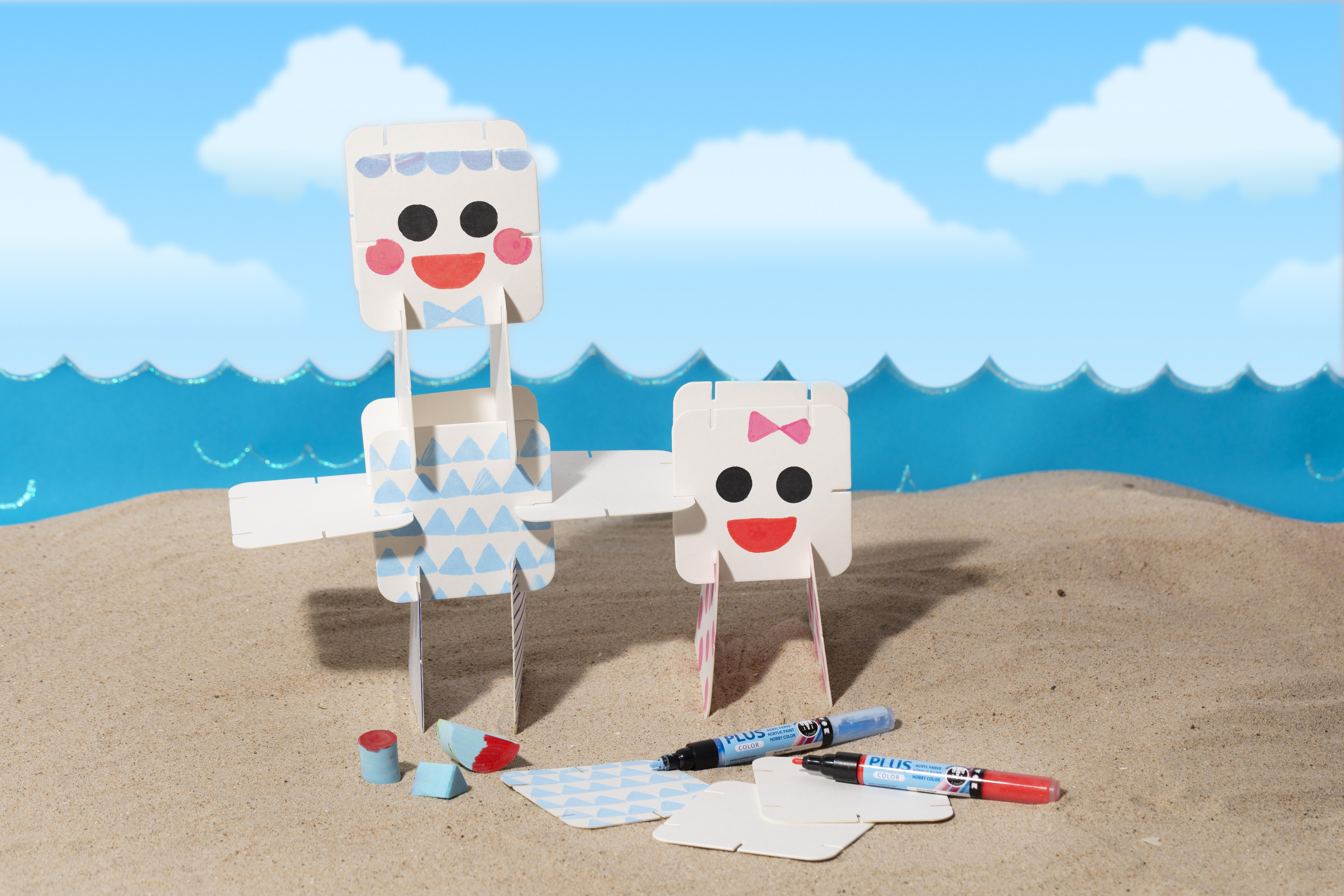 Sjov og kreativ ferie med børn - lav selv figurer med dekoration af konstruktionsbrikker