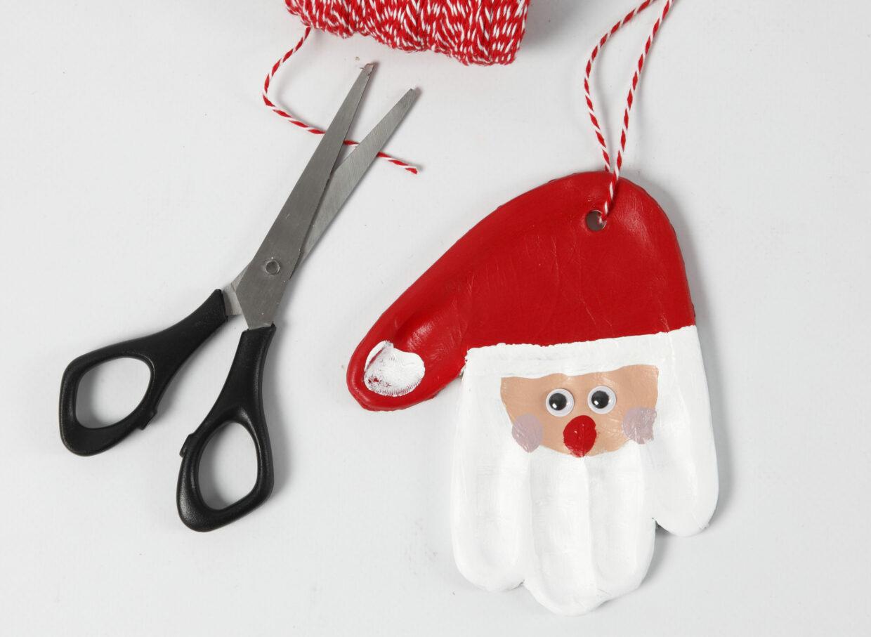 lav selv julepynt med selvhærdende ler - julemand